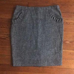 Anthropologie tweed metallic skirt